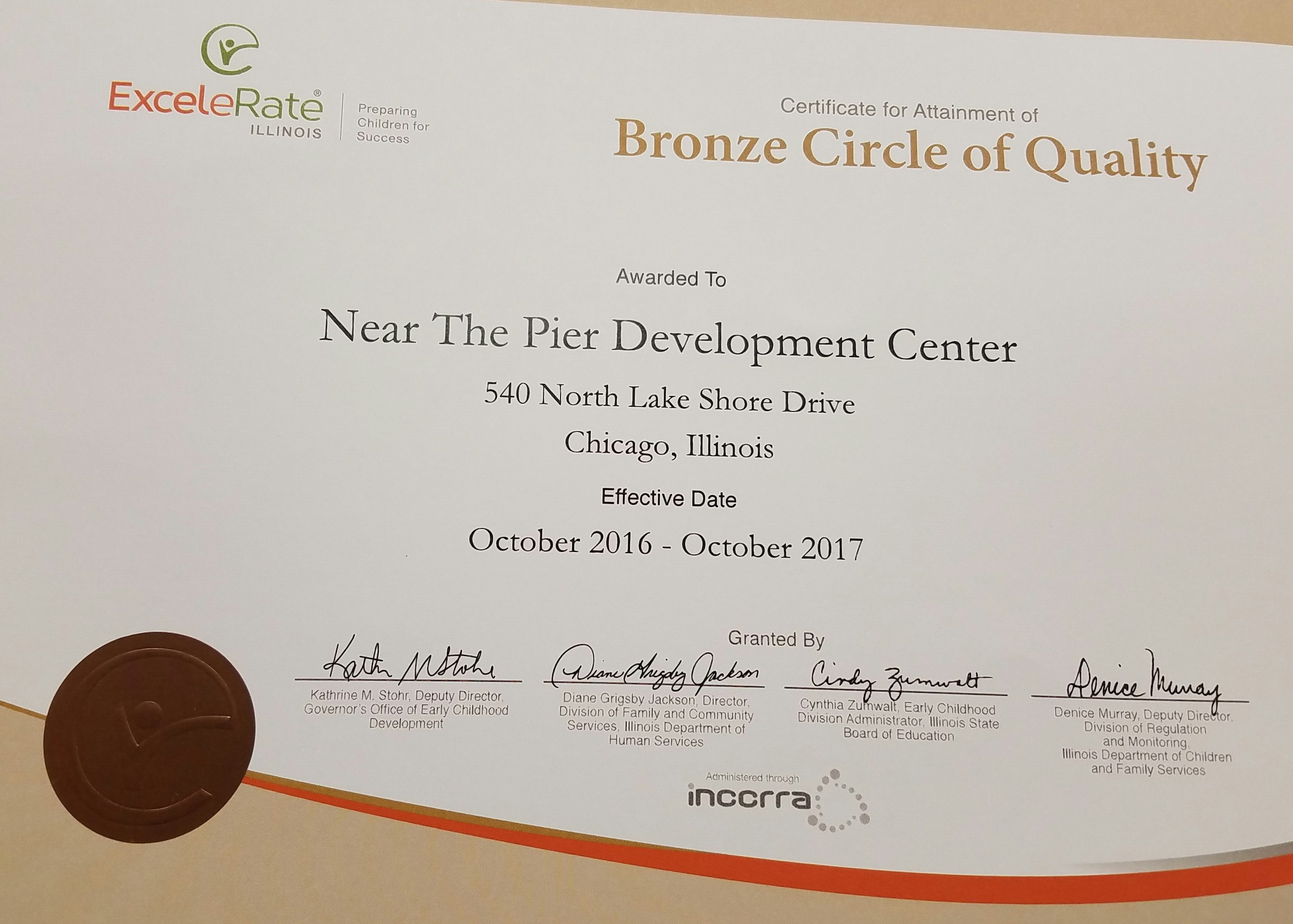 Certifications The Premier Child Care Centers Near The Pier