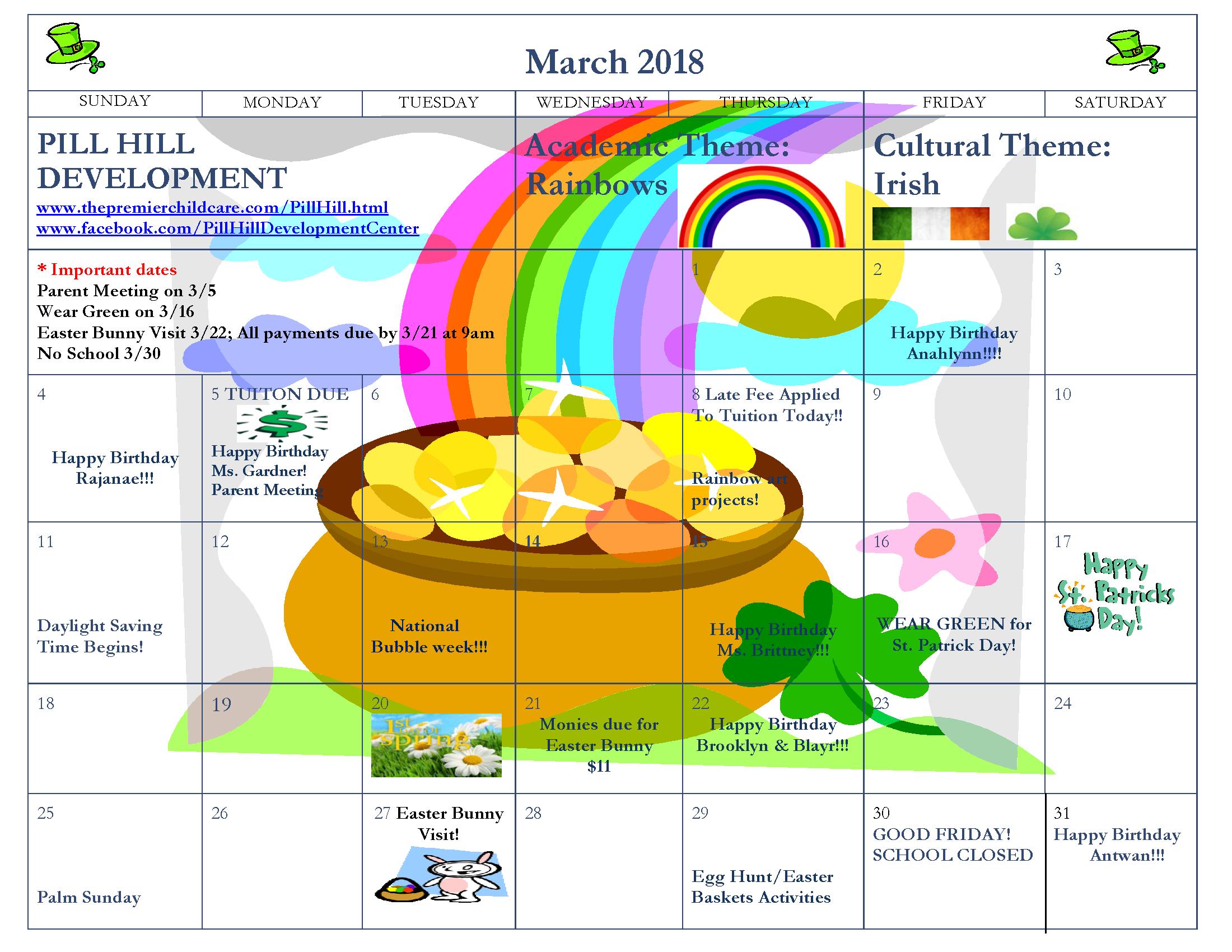 ph march 2018 calendar